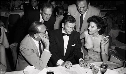 With Jack Benny, the Ritz Bros and Ava Gardner, in Las Vegas